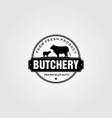vintage butchery farm logo design vector image vector image