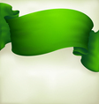 Waving green ribbon banner drawing vector image