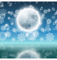 Winter night landscape with fullmoon vector image vector image