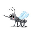 with a cute mosquito gray vector image vector image