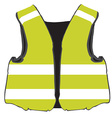 Yellow safety vest vector image vector image