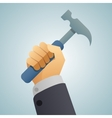 hand hammer icon vector image