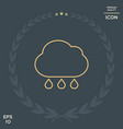 cloud rain line icon vector image