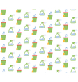 Spring seamless pattern with cleaning tools vector image