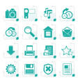 stylized simple internet and website icons vector image