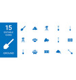 15 ground icons vector image vector image