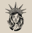 a girl in chicano tattoo vector image
