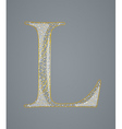 Abstract golden letter L vector image vector image