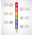 Abstract options infographics design template vector image vector image