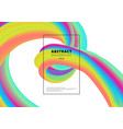 abstract vibrant gradient color 3d fluid shape on vector image vector image