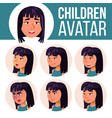 asian girl avatar set high school face vector image