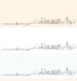 avignon hand drawn profile skyline vector image vector image