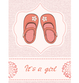 Baby shower withShoes vector image