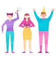 birthday party celebration with friends partying vector image vector image