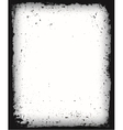 Black grunge frame isolated vector image vector image