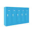 blue lockers vector image vector image