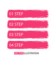 brush strokes infographics options banner for vector image vector image