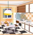 cartoon of a kitchen interior vector image vector image