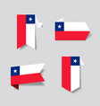 chilean flag stickers and labels vector image vector image