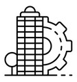city architectural building icon outline style vector image vector image