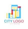 city logo original design abstract building vector image vector image