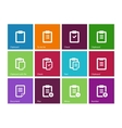 Clipboard icons on color background vector image vector image