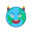 devil world globe isolated emoticon vector image vector image