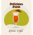 drink retro label vector image