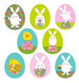 easter bunny and bachick graphics on easter vector image vector image
