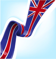 england ribbon flag on background vector image vector image