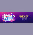 fake news concept banner header vector image