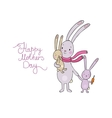 Family of cute cartoon rabbits Funny animals vector image