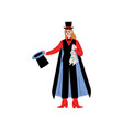 female magician character holding top hat and vector image vector image