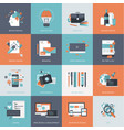 flat design concept icons for web development vector image vector image