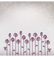Flower Roses Wedding Background vector image vector image