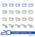 Folder Icons Outline Series vector image vector image