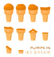 for natural ice cream vector image