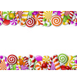 frame made colorful candies vector image vector image