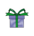 gift box wrapped ribbon bow present vector image vector image
