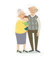 grandparents with grandchild grandmother vector image vector image