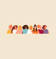 group women portraits banner vector image vector image