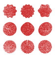 grunge stamp texture vector image vector image