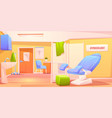 gynecology doctor office patient examination room vector image