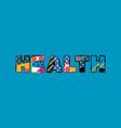 health concept word art vector image