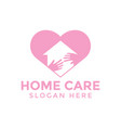 home care love logo icon design template vector image
