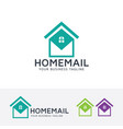 home mail logo design vector image