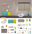 interior creator living room or office vector image vector image