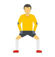 keeper icon flat style vector image
