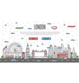 london skyline with national famous landmarks vector image vector image