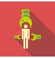 Man infographic template icon flat style vector image